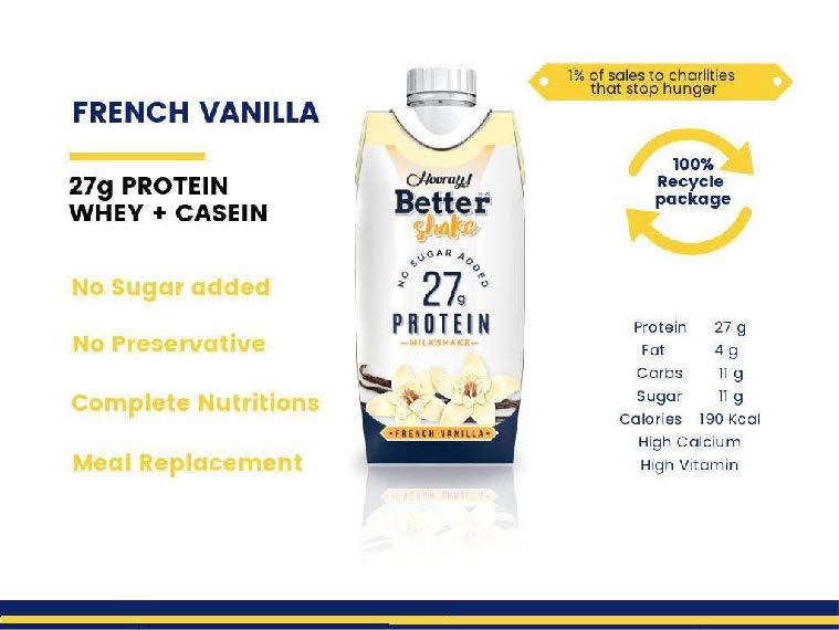 french vanilla milkshake protein